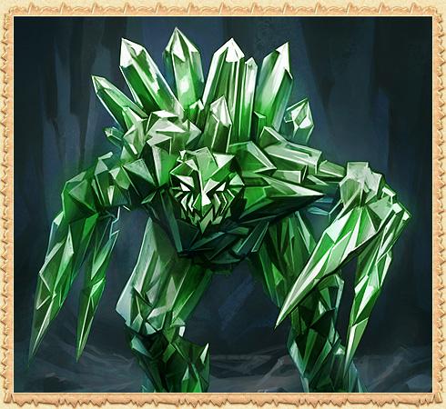 Зеленый кристаллический голем