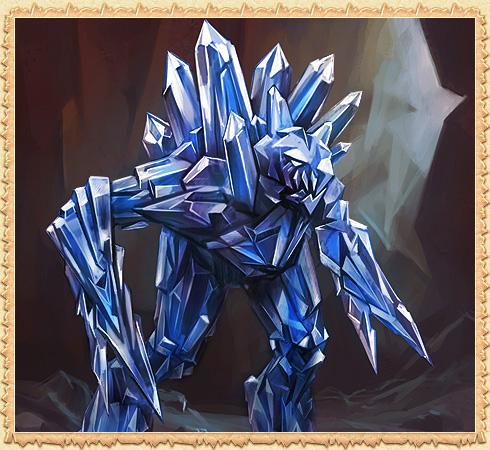 Синий кристаллический голем