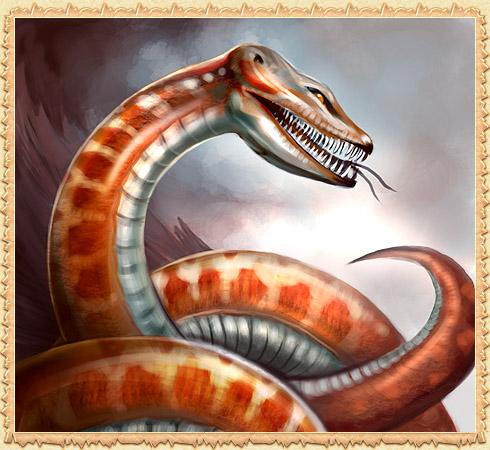 Змеи оккупировали окрестности замка, а излюбленным лакомством.
